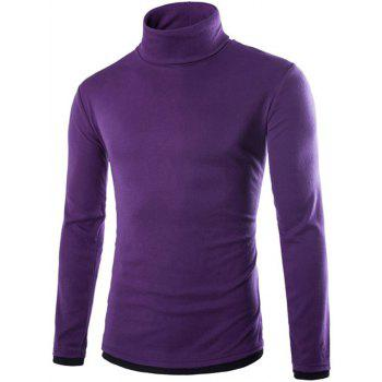 Faux Twinset Design Long Sleeve High Neck Knitwear