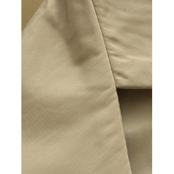 Turn-Down Collar Lengthen Single-Breasted Wind Coat - M M