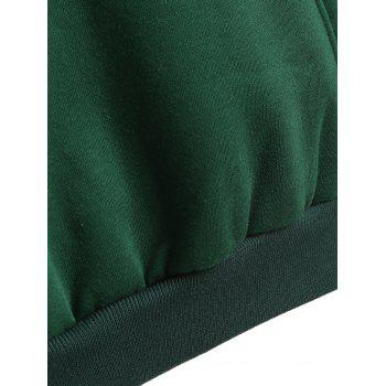 Hooded Oioi Sweatshirt - BLACKISH GREEN ONE SIZE