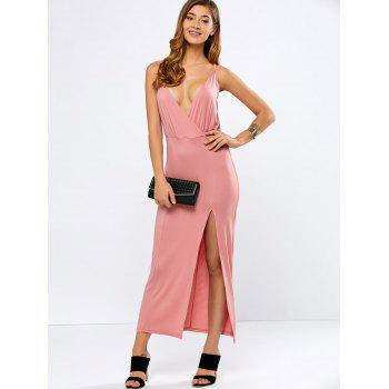 Strappy Maxi High Slit Dress