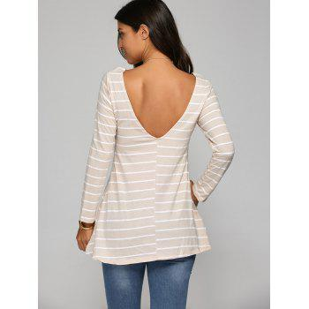 Striped Open Back T-Shirt