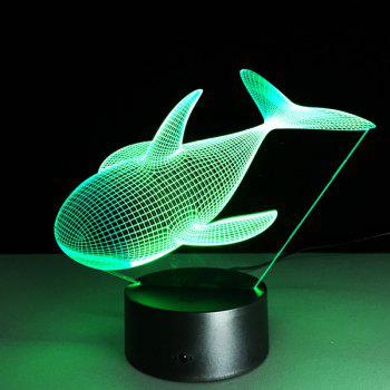 Color Changing Dolphin Shape 3D Visual LED Night Light - COLORFUL COLORFUL