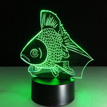 Color Changing Fish Shape 3D Visual LED Night Light - COLORFUL