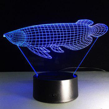 Color Changing Fish Shape 3D Visual LED Table Night Light -  COLORFUL
