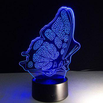 Colorful Butterfly Shape 3D Visual LED Touching Table Night Light - COLORFUL COLORFUL