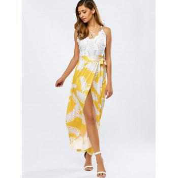 High Low Lace Spliced Cami Dress