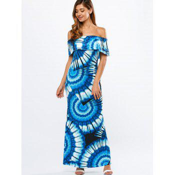 Bohemian Off The Shoulder Printed Beach Maxi Dress