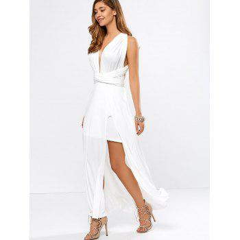 High Slit Convertible Maxi Bandage Formal Dress