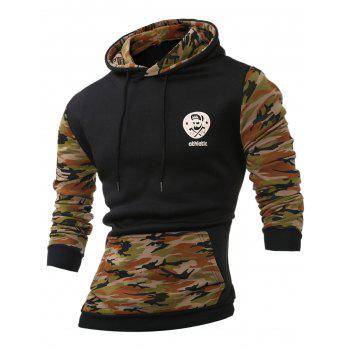 Kangaroo Pocket Camouflage Splicing Long Sleeves Hoodie