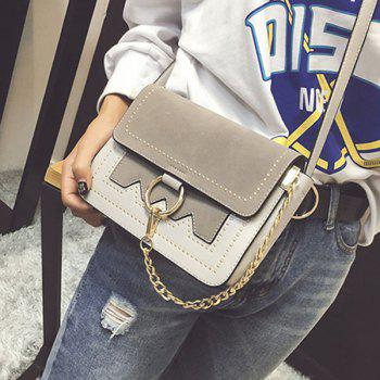 Covered Closure Chain Metal Ring Crossbody Bag