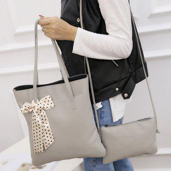 Scarves Textured Leather Stitching Shoulder Bag