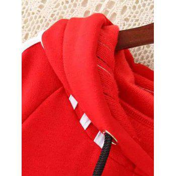 Plus Size Hoodie Dress - RED RED