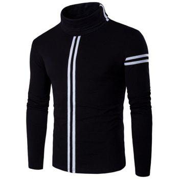 Varsity Stripe Long Sleeve Roll Neck T-Shirt
