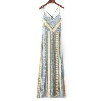 Cami Vintage Lace-Up Maxi Dress