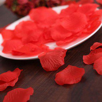 100 Pieces Silk Rose Petals Wedding Party Artificial Flower Decorative - RED