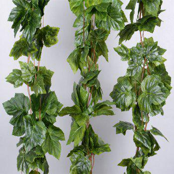 Artificial Grape Leaves Rattan For Wedding Home Balcony Decoration