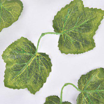 Artificial Grape Leaves Rattan For Wedding Home Balcony Decoration - GREEN