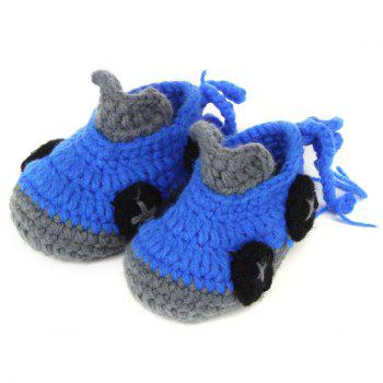 Roadster Knit Baby Booties - BLUE BLUE