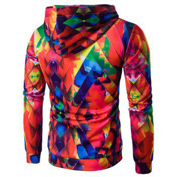 Abstract Printed Colormix Pullover Hoodie - COLORFUL XL