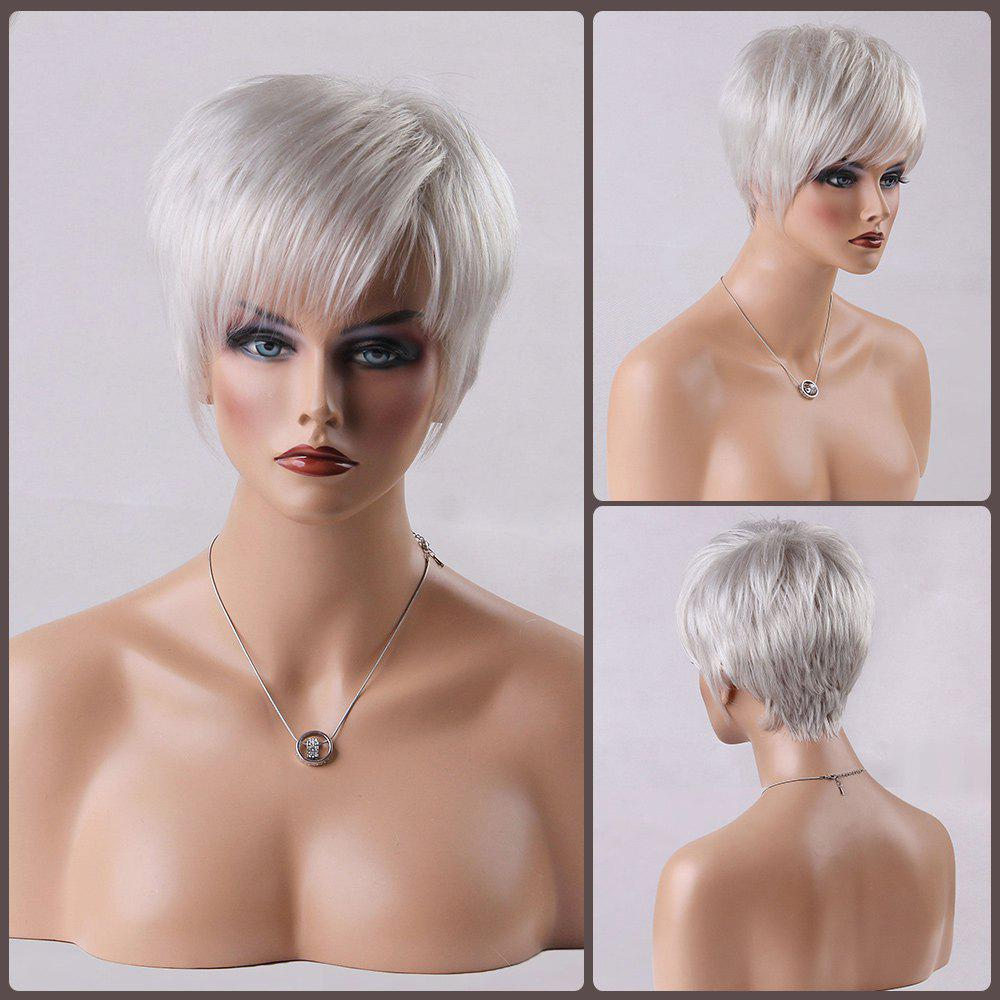 White Real Hair Wig Costume And Wigs