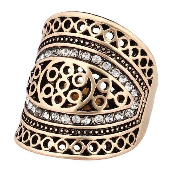 Hollow Out Geometry Ring - GOLDEN ONE-SIZE
