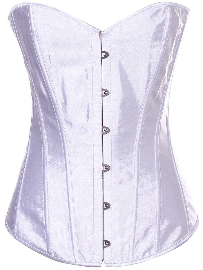 Sheeny Buckle lacets Corset - Blanc 2XL
