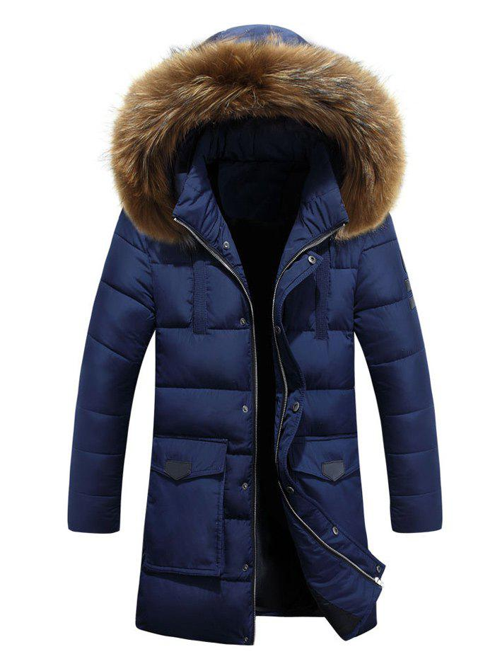 Lengthen Faux Fur Hooded Pockets Design Down Coat winter baby kids girls down coat clothes with faux fur hooded thicken parkas outerwear warm children girl cat printed down coat