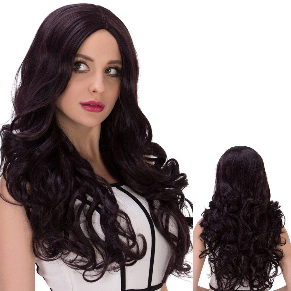 Long Centre Parting Cute Wavy Synthetic Wig centre speaker