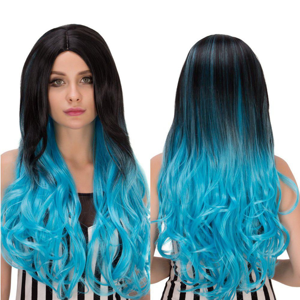 Long Wavy Centre Parting Ombre Synthetic Lolita Wig centre speaker