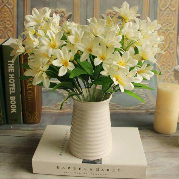 Artificial Little Lily Flower Branch Home Party Decorative - WHITE