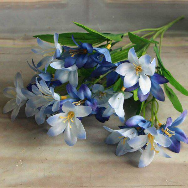 Artificial Little Lily Flower Branch Home Party Decorative - BLUE