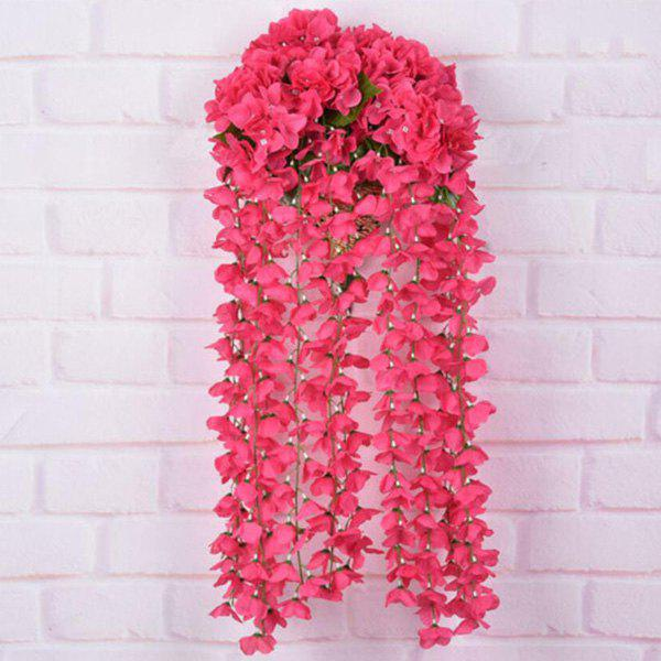 Artificial Flower Rattan For Wedding Home Balcony Decoration - RED