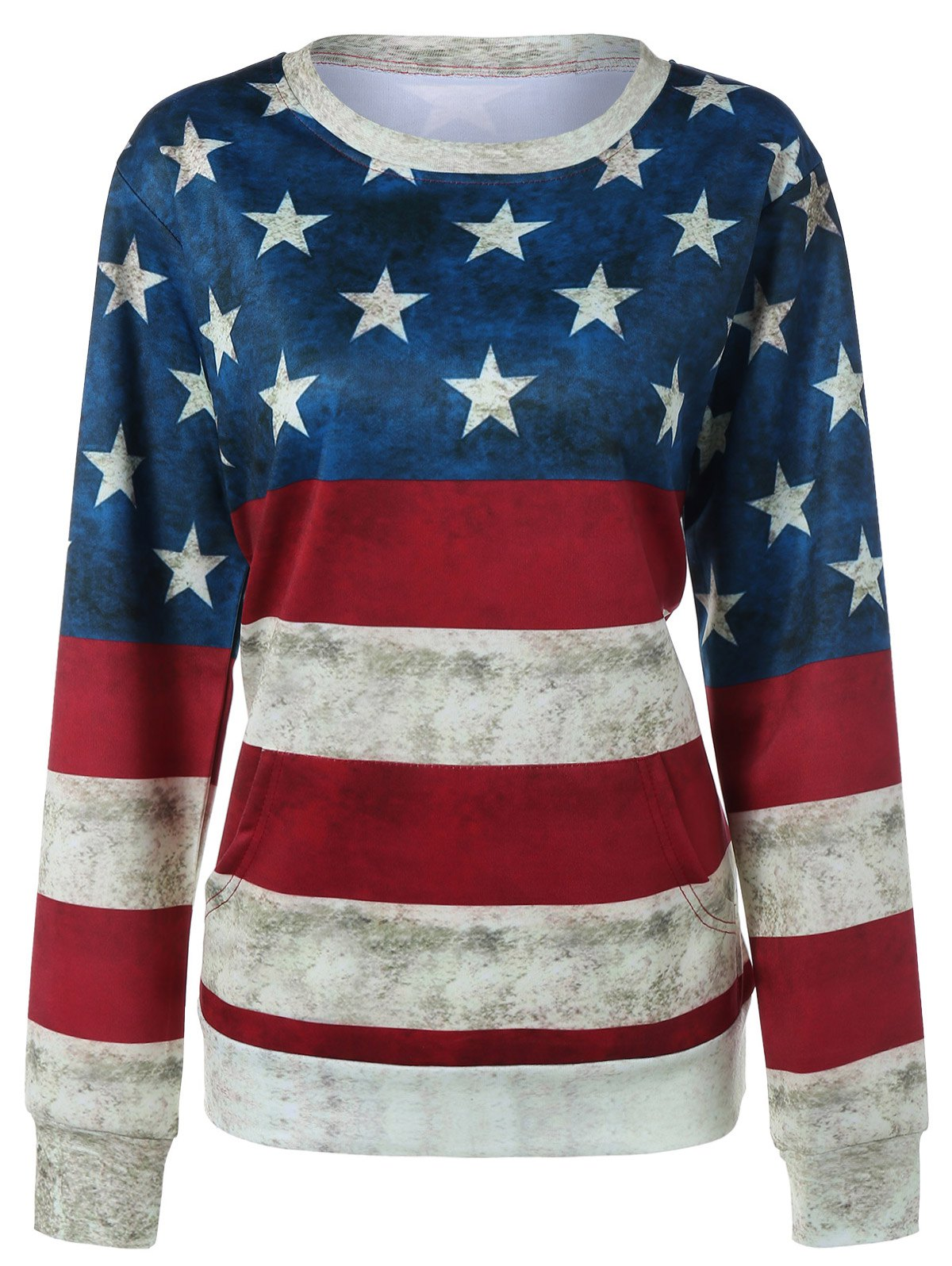 Contrast Star Print Striped Sweatshirt ancient house printed wall decor hanging tapestry