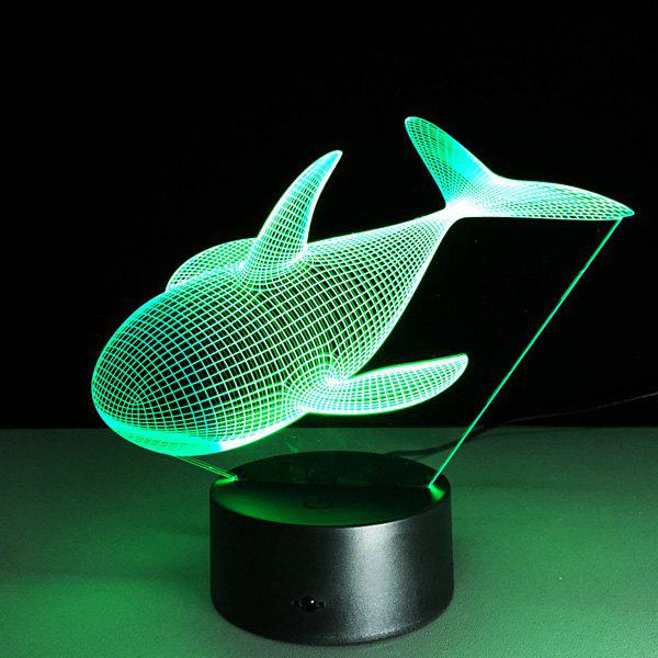 Color Changing Dolphin Shape 3D Visual LED Night Light 40cm 50cm 60cm ultra thin usb flat ribbon cable type c straight to male micro down angle line connector