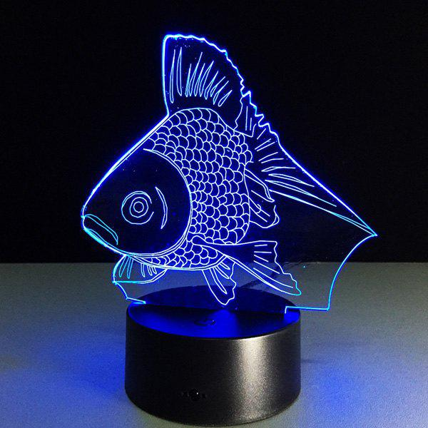 2018 Color Changing Fish Shape 3D Visual LED Night Light
