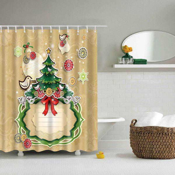 Merry Christmas Printed Waterproof Mouldproof Shower CurtainHome<br><br><br>Size: M<br>Color: COLORFUL