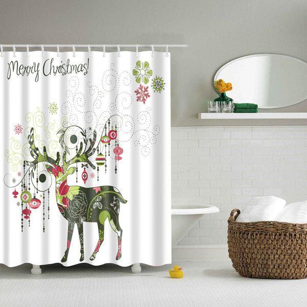 Artistic Christmas Deer Printed Waterproof Bath Shower Curtain кабель belkin jack 3 5 m jack 3 5 m 1м белый
