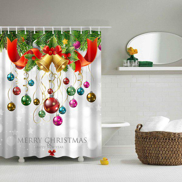 Bathroom Waterproof Merry Christmas Printed Shower CurtainHome<br><br><br>Size: L<br>Color: COLORFUL