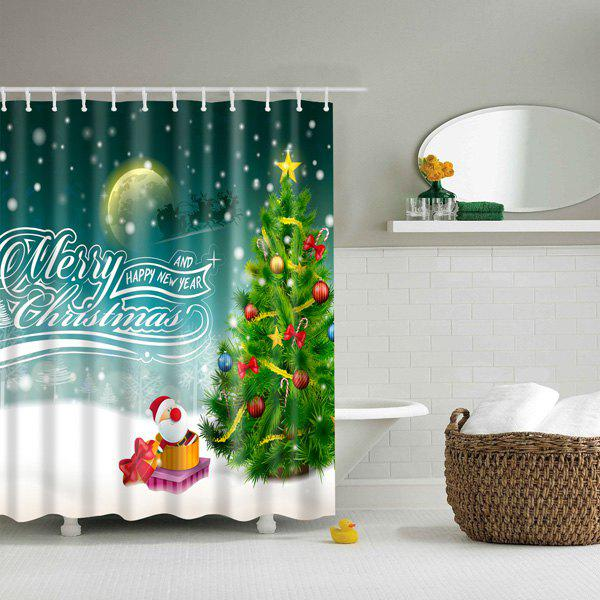 Bathroom Waterproof Merry Christmas Pattern Shower Curtain bathroom waterproof merry christmas pattern shower curtain