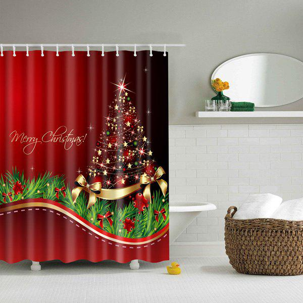 Good Quality Bathroom Waterproof Merry Christmas Shower Curtain