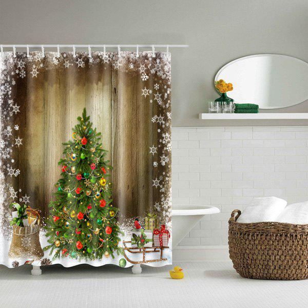 Thicken Merry Christmas Bathroom Waterproof Shower Curtain bathroom waterproof merry christmas pattern shower curtain