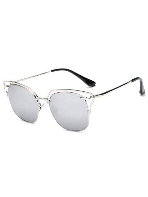 4ec57ca58d 2019 Cool Hollow Out Irregular Square Mirror Sunglasses In SILVER ...