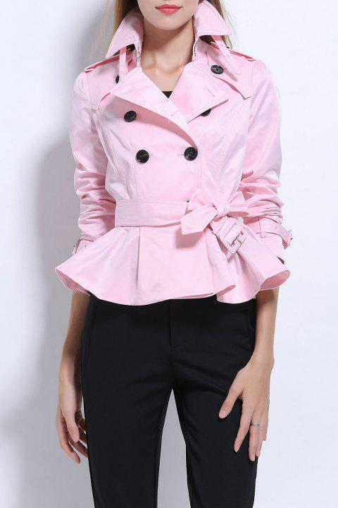 Court Belted Trench Coat - Rose S
