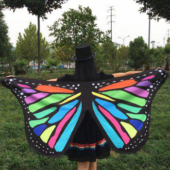 Colorful Butterfly Wings Scarf