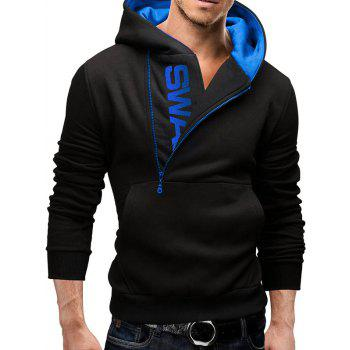 IZZUMI Pocket Front Long Sleeve Side Half-Zip Up Hoodie