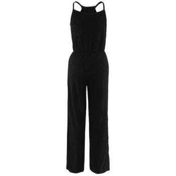 High Waist Sleeveless Wide-Leg Jumpsuit