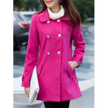 Double Breasted Bowknot A Line Pea Coat