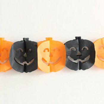 Halloween Party Supplies Paper Pumpkin Cutting Prop Decoration - BLACK AND ORANGE BLACK/ORANGE