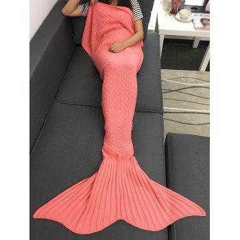 Comfortable Sleeping Bag Sofa Knitting Mermaid Tail Blanket