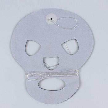 Halloween Party Supplies Paper Skull Cutting Prop Decoration - WHITE/BLACK